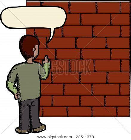 Im Gespräch mit einer Mauer