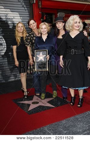 LOS ANGELES - AUG 11: GoGo's as the band The Go-Go's - Kathy Valentine, Charlotte Caffey, Belinda Carlisle, Gina Schock and Jane Wiedlin is honored with a star on August 11, 2011 in Los Angeles, CA