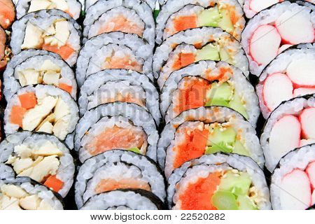 Sushi Just Completed Are Arranged