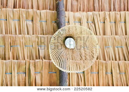 Bamboo Decorative Lamp On The Roof
