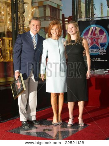 LOS ANGELES - APR 10: Regis Philbin; wife Joy; daughter Jennifer at a ceremony where Regis Philbin receives the 2222th star in Los Angeles, California on April 10, 2003