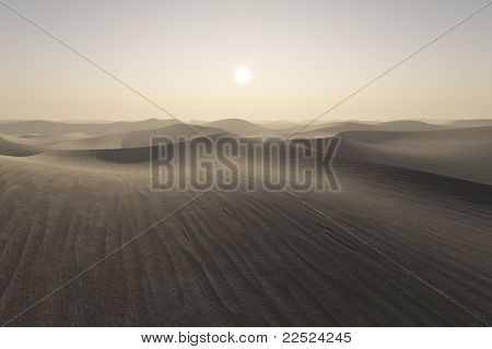 An image of a nice desert sunset