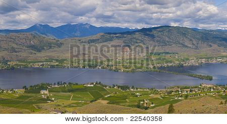 Aerial View Of Osoyoos Wine Valley Panorama