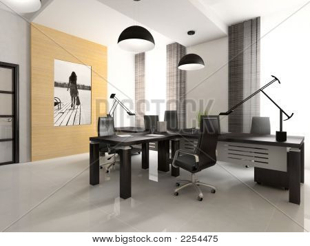Interior Of The Cabinet In Office 3D Rendering