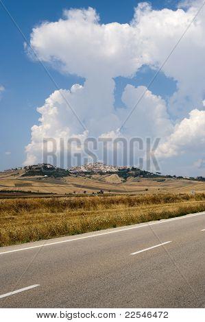 Landscape In Puglia(italy) Near Candela (foggia)