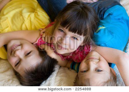 Kids Enjoying Being Home