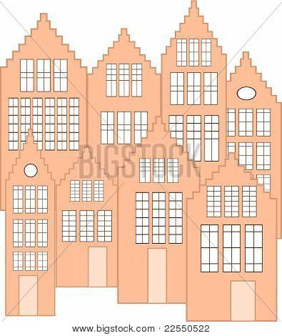 dutch facades vector