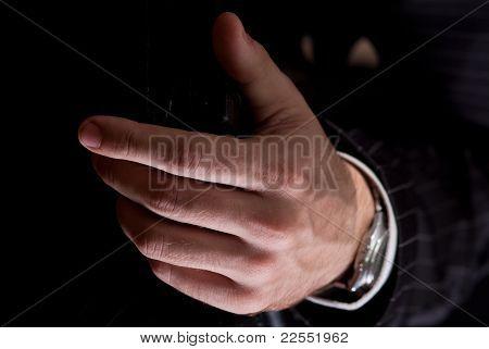 Die Hände eines Kaufmanns