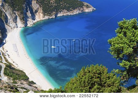 Mirtos beach at Kefalonia in Greece