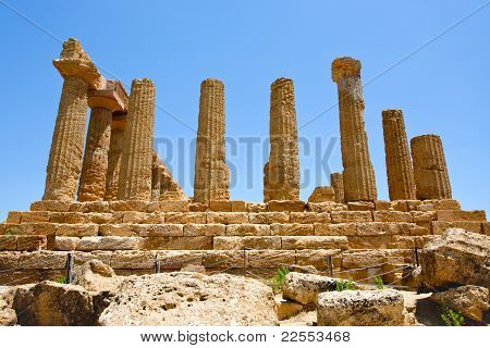 Temple Of Juno In Valley Of The Temples