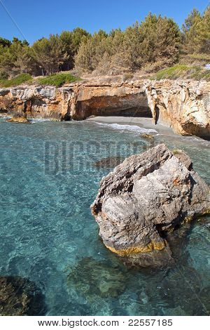 'Gradakia' beach at Argostoli of Kefalonia