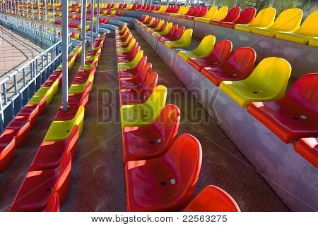 Plastic Seats At Stadium