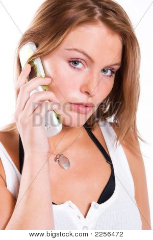 Young Beautiful Woman With Cellphone