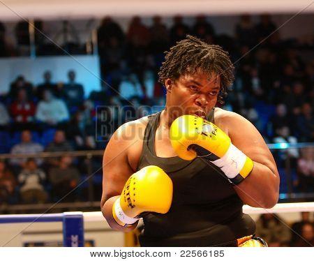 The  Fight. Boxer Pamela London (Guyana)