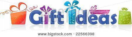 Gift ideas, vector illustration
