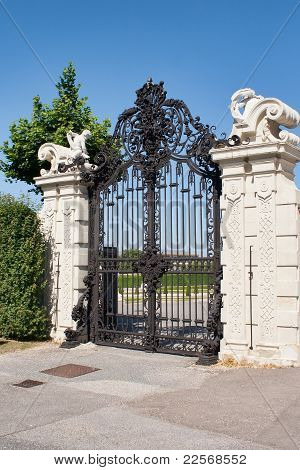 Gates of Belvedere Palace,Vienna