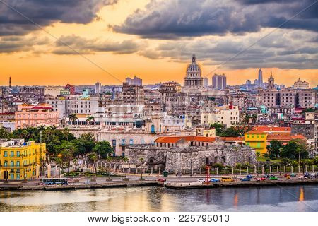 Havana Cuba downtown skyline