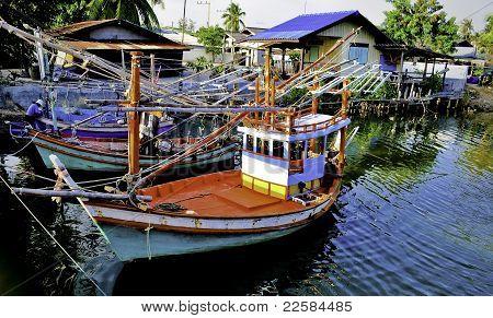 Colorful Thai Fishing Boats