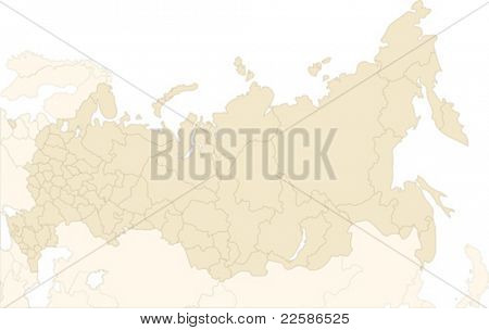 Russland-Karte trennen und jeder Region zu verwenden, wie Sie es wünschen