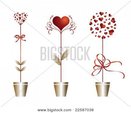 Valentine's day card. Vector illustration.