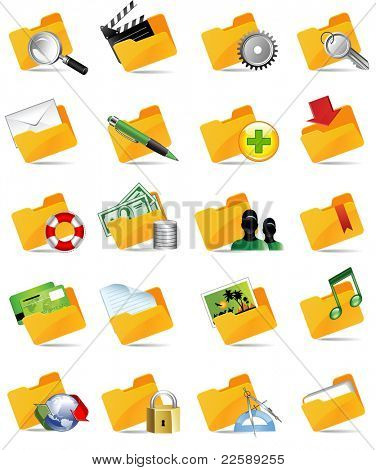 Set of internet icons. All elements are individual objects. Raster version of vector illustration.