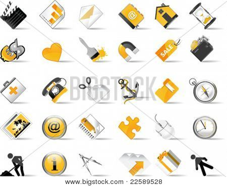 Set of internet icons. All elements are individual objects. Vector illustration scale to any size.