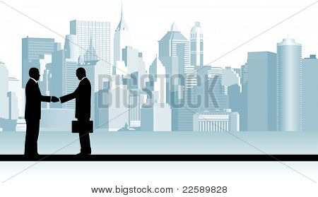 Business People. Raster version of vector illustration.