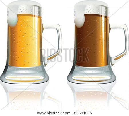 Beer. All elements and textures are individual objects. Vector illustration scale to any size.
