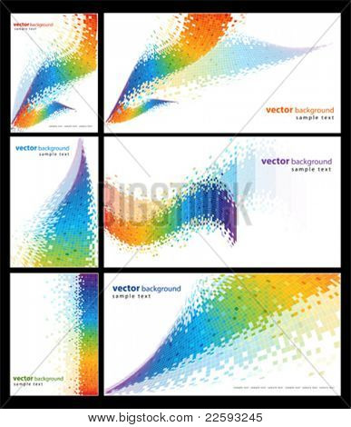 Spektrum abstrakt. Alle Elemente und Strukturen sind einzelne Objekte. Vektor-illustration
