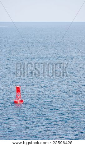 Red Channel Marker In Blue Bay