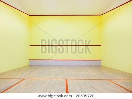 Empty squash court