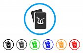 Joker Gambling Cards Icon. Vector Illustration Style Is A Flat Iconic Joker Gambling Cards Black Sym poster