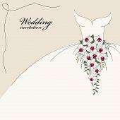 foto of wedding invitation  - Vintage wedding invitation - JPG