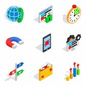 Local Area Network Icons Set. Isometric Set Of 9 Local Area Network Vector Icons For Web Isolated On poster