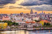 Havana, Cuba downtown skyline. poster