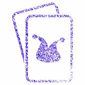 Grunge Joker Gaming Cards Rubber Seal Stamp Watermark. Icon Symbol With Grunge Design And Unclean Te poster