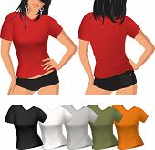 pic of t-shirt red  - Woman - JPG