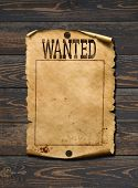 Wanted dead or live blank poster. Wild west background. poster