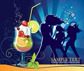Постер, плакат: Коктейль Все элементы и текстуры являются отдельными объектами Векторные иллюстрации шкалу до любого размера