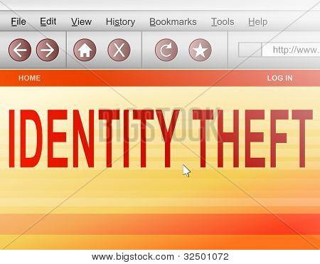Identität Diebstahl Konzept.