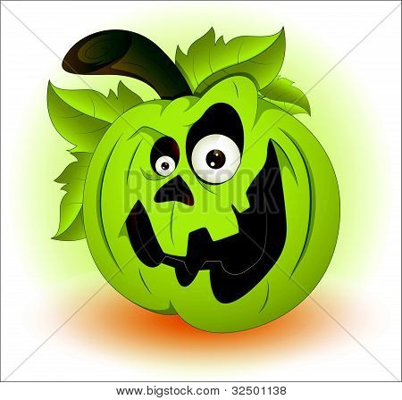 Spooky Cartoon Halloween Pumpkin