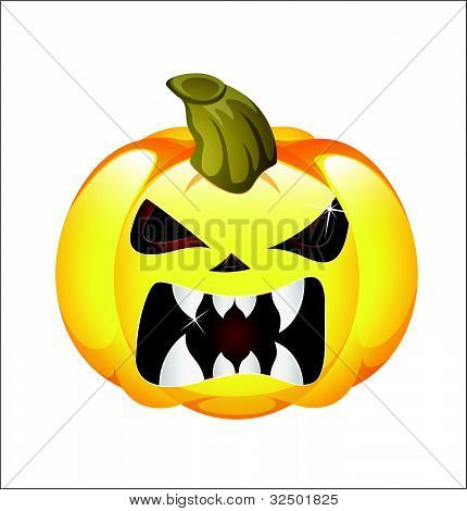 Scary Jack O Lantern Vector