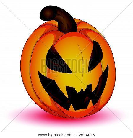 Scary Halloween Jack O Lantern