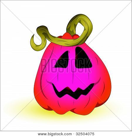 Vector Art of Halloween Pumpkin