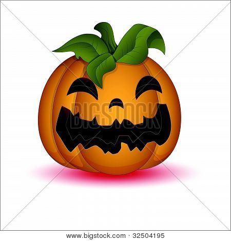 Illustration of Scary Halloween Pumpkin