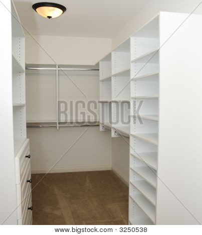 Empty Clothes Closet