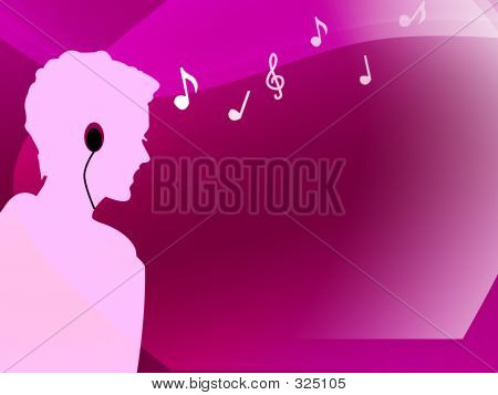 Female Listening To Music With Her Mp3 Player 2