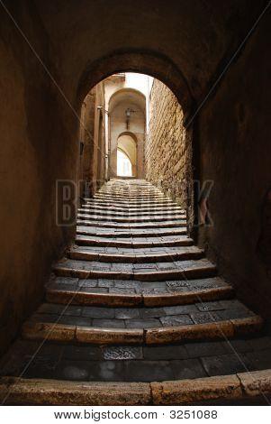 Stepped Street In Pitigliano