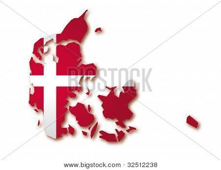 map flag of Denmark