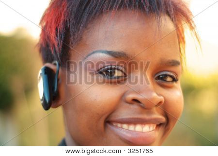 Businesswoman And Headset